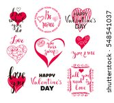 set of valentines day postcards.... | Shutterstock .eps vector #548541037
