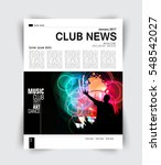 layout page  music magazine ... | Shutterstock .eps vector #548542027