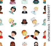 people of different profession... | Shutterstock .eps vector #548546497