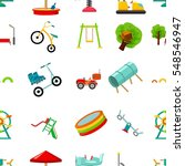 play garden pattern icons in... | Shutterstock .eps vector #548546947