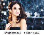portrait a beautiful young woman | Shutterstock . vector #548547163