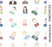 avatar pattern icons in cartoon ... | Shutterstock .eps vector #548549233