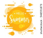 hello summer lettering design