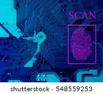 Small photo of Fingerprint access code. biometric control. authority identity. screening systems. scanner security.
