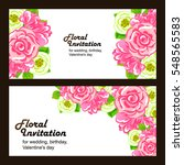 romantic invitation. wedding ... | Shutterstock . vector #548565583