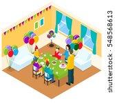 celebration of birthday... | Shutterstock .eps vector #548568613