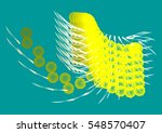 abstract unusual geometrical... | Shutterstock .eps vector #548570407