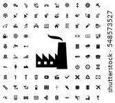 factory icon vector... | Shutterstock .eps vector #548573527