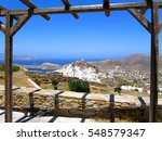 view of chora town in ios... | Shutterstock . vector #548579347