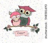 Two Cute Owls Fallen In Love....