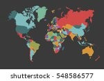 world map countries vector on... | Shutterstock .eps vector #548586577
