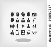 business man icons  vector best ... | Shutterstock .eps vector #548587567