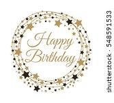 happy birthday background.... | Shutterstock .eps vector #548591533