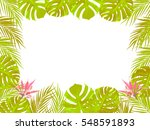 vector tropical jungle... | Shutterstock .eps vector #548591893
