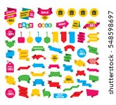 web stickers  banners and... | Shutterstock . vector #548598697