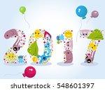 happy new year  monsters ... | Shutterstock .eps vector #548601397