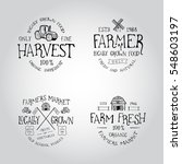 set of badge for farmers market | Shutterstock .eps vector #548603197