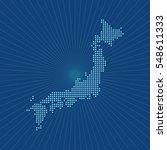 map of japan | Shutterstock .eps vector #548611333