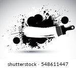 hand painted decorative grunge... | Shutterstock . vector #548611447