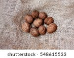 nuts on the bag   Shutterstock . vector #548615533