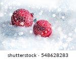 New Year Decoration Balls On...