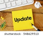 update update sticker with... | Shutterstock . vector #548629513