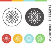 Vector Set Of Sunflower Icons...