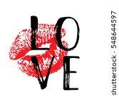 Hand Written Word Love. Vector...