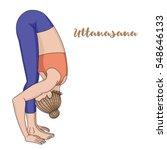 women silhouette. uttanasana ...   Shutterstock .eps vector #548646133