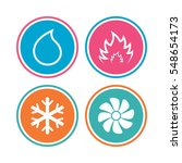 hvac icons. heating ... | Shutterstock . vector #548654173