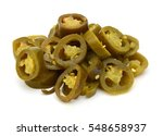 slices of preserved jalapeno... | Shutterstock . vector #548658937