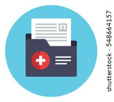 patient file icon. medical... | Shutterstock .eps vector #548664157