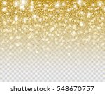 falling gold glitter particles... | Shutterstock .eps vector #548670757
