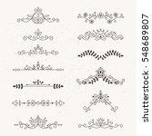 set of calligraphic design... | Shutterstock .eps vector #548689807
