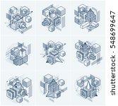 abstract vector backgrounds... | Shutterstock .eps vector #548699647
