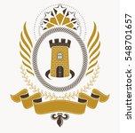heraldic coat of arms... | Shutterstock .eps vector #548701657