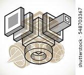 3d design  abstract vector... | Shutterstock .eps vector #548703367
