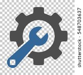 cobalt and gray service tools... | Shutterstock .eps vector #548703637