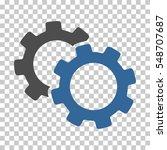 cobalt and gray gears toolbar... | Shutterstock .eps vector #548707687