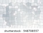 polygon background of silver... | Shutterstock . vector #548708557