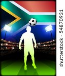 south african soccer player in... | Shutterstock .eps vector #54870931
