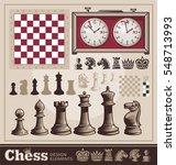set of chess vector design... | Shutterstock .eps vector #548713993