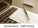 saving account book and... | Shutterstock . vector #548715163