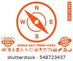 orange compass icon with bonus... | Shutterstock .eps vector #548723437