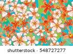 seamless pattern of flowers.   Shutterstock .eps vector #548727277