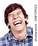 laughing out loud young man... | Shutterstock . vector #548729023
