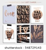 valentines day gift cards ... | Shutterstock .eps vector #548729143