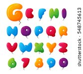 balloon alphabet vector set. | Shutterstock .eps vector #548745613