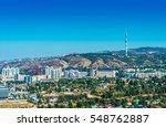 panoramic view of almaty city... | Shutterstock . vector #548762887