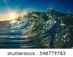 colorful clear ocean wave... | Shutterstock . vector #548779783